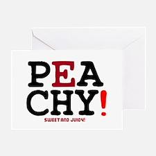 PEACHY - SWEET AND JUICY! Greeting Card