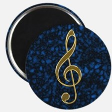 Golden Treble Clef Magnet