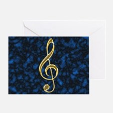 Golden Treble Clef Greeting Card