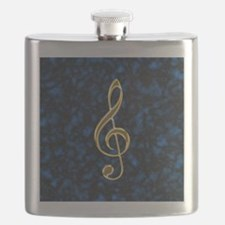 Golden Treble Clef Flask