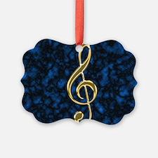 Golden Treble Clef Ornament