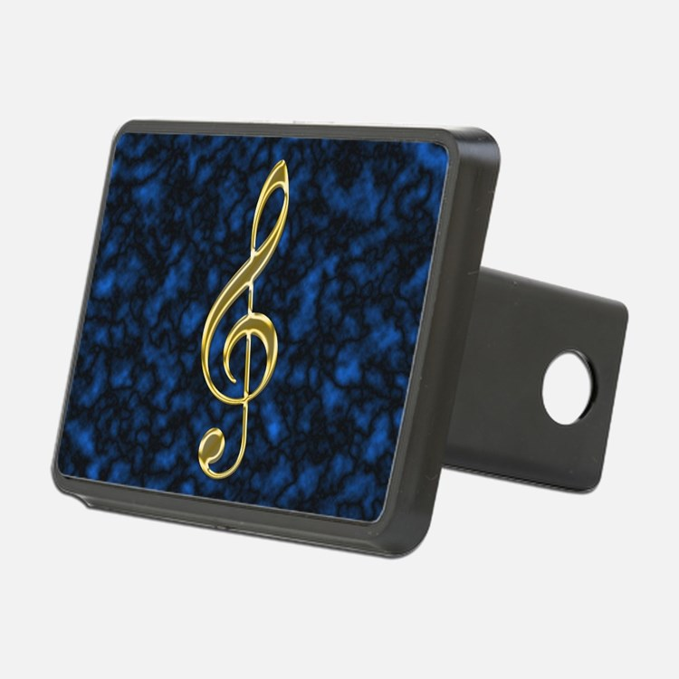 Golden Treble Clef Hitch Cover