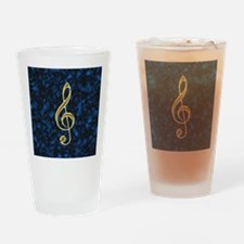 Golden Treble Clef Drinking Glass