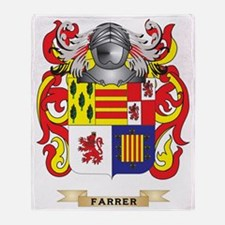Farrer Coat of Arms Throw Blanket