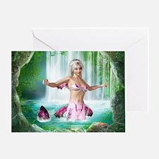 Pink Mermaid Greeting Card