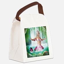 Pink Mermaid Canvas Lunch Bag