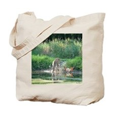 Deer & Fairy with Reflections Tote Bag
