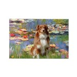 Lilies2-Aussie Shep (#4) Rectangle Magnet