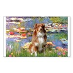 Lilies2-Aussie Shep (#4) Sticker (Rectangle)