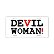 DEVIL WOMAN! Z Aluminum License Plate
