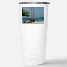 Sailboat in Aruba Stainless Steel Travel Mug