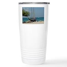 Sailboat in Aruba Travel Mug