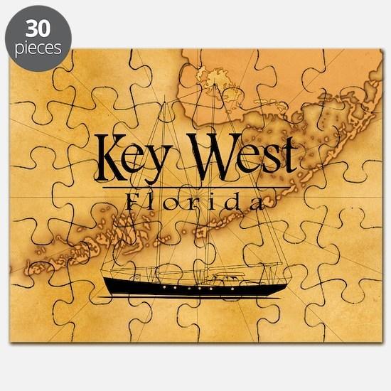 Key West Sailing Map Puzzle
