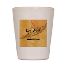 Key West Sailing Map Shot Glass