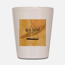 Key West Sailing Map Shot Glass