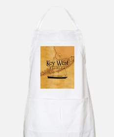 Key West Sailing Map Apron
