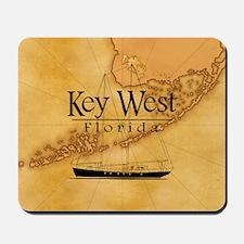 Key West Sailing Map Mousepad