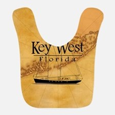 Key West Sailing Map Bib