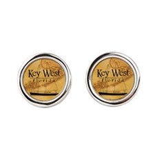 Key West Sailing Map Cufflinks