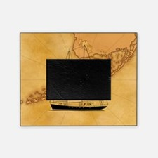 Key West Sailing Map Picture Frame
