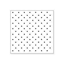 """Black and white polka dots Square Sticker 3"""" x 3"""""""