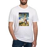 Umbrella-Aussie Shep Fitted T-Shirt