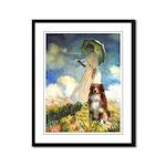 Umbrella-Aussie Shep Framed Panel Print