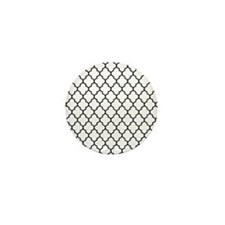 Black Moroccan lattice Mini Button