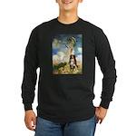 Umbrella-Aussie Shep Long Sleeve Dark T-Shirt