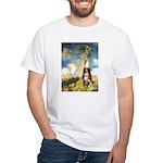 Umbrella-Aussie Shep White T-Shirt