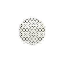 Black quatrefoil lattice pattern Mini Button