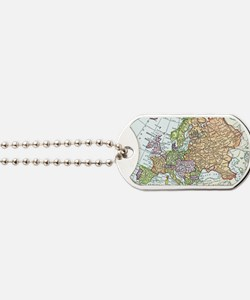 Vintage map of Europe Dog Tags