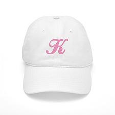 K Initial Baseball Cap
