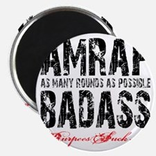AMRAP BADASS - WHITE Magnet