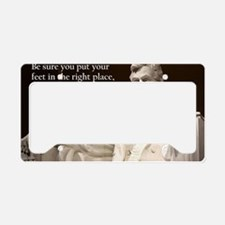 lincoln inspirational quote license plate holder