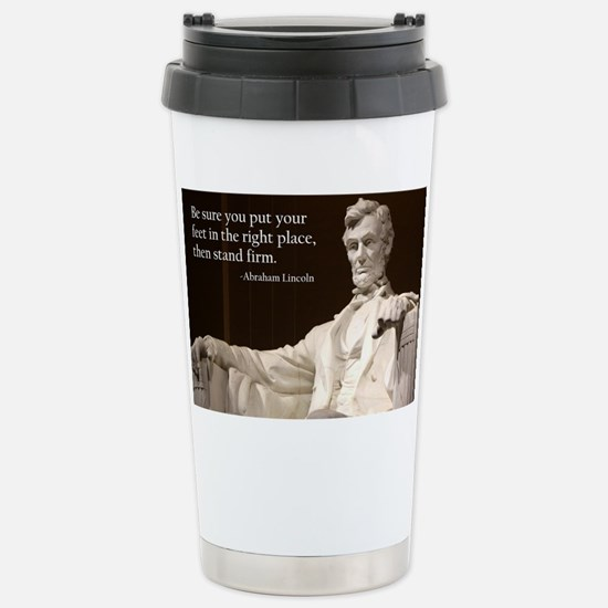 Lincoln Inspirational Q Stainless Steel Travel Mug
