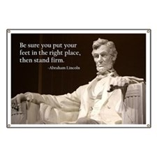 Lincoln Inspirational Quote Banner