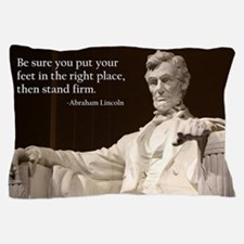 Lincoln Inspirational Quote Pillow Case
