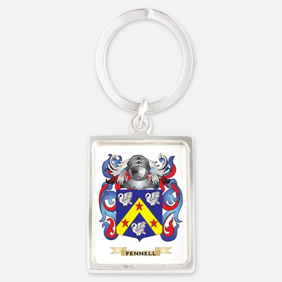 Fennell Coat of Arms Portrait Keychain