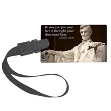 Lincoln - Stand Firm Luggage Tag