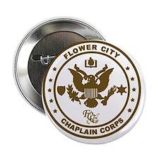 "Flower City Chaplain Corps Logo, Gold 2.25"" Button"
