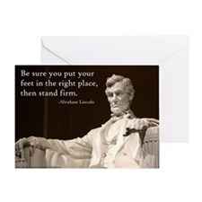Lincoln - Stand Firm Greeting Card