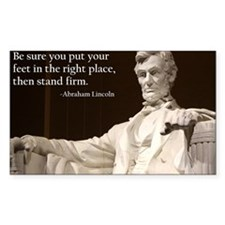 Lincoln - Stand Firm Decal
