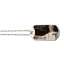 Lincoln - Stand Firm Dog Tags