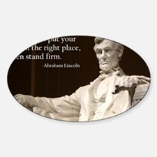 Lincoln - Stand Firm Sticker (Oval)