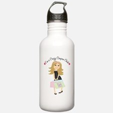 The Crazy Coupon Chick Water Bottle