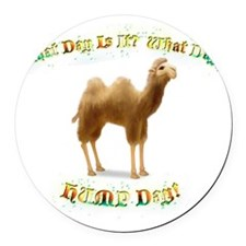 Hump Day Round Car Magnet