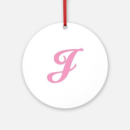 J Initial Ornament (Round)