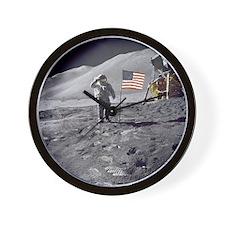 Apollo moon mission Wall Clock