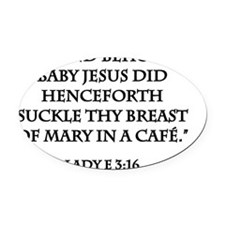 Breastfeeding Baby Jesus Oval Car Magnet